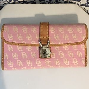 "Dooney & Bourke ""Bubble Gum"" Trifold Wallet"